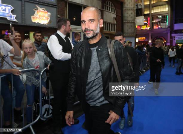 Manchester City's Pep Guardiola arrives at The Printworks on August 15 2018 in Manchester England