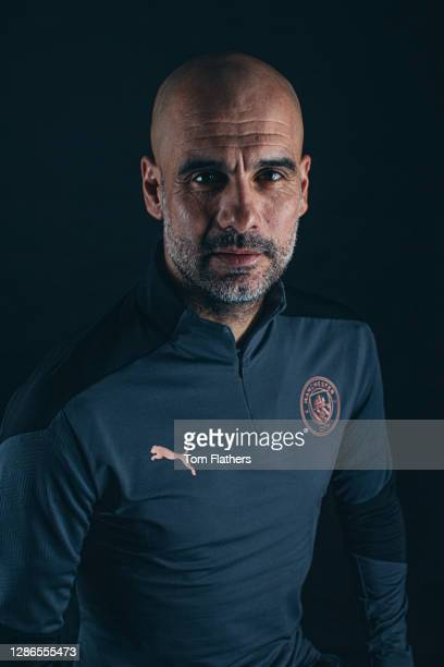 Manchester City's Pep Guardiola during a portrait session at Manchester City Football Academy on January 22, 2020 in Manchester, England.
