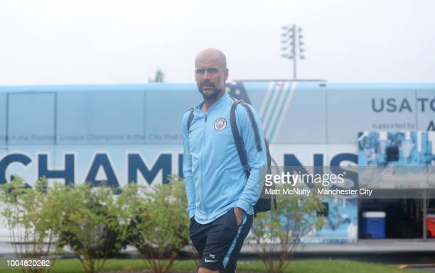 Manchester City's Pep Guardiola during training at New York City FC's training facility on July 23 2018 in New York City
