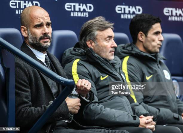 Manchester City's Pep Guardiola in the dugout