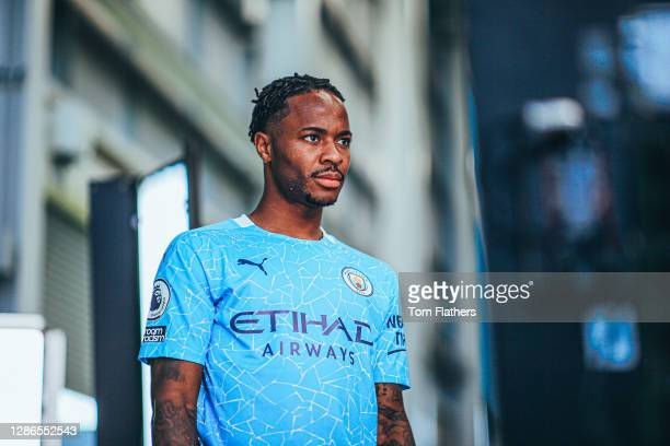 Manchester City's Raheem Sterling during media day at Manchester City Football Academy on September 15, 2020 in Manchester, England.