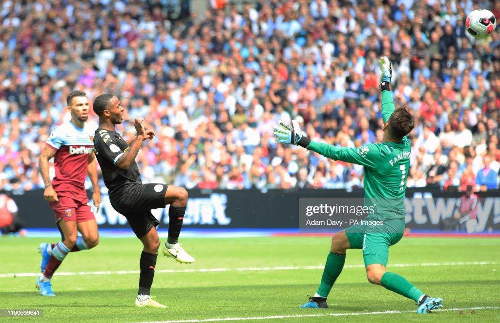 West Ham United v Manchester City - Premier League - London Stadium : News Photo