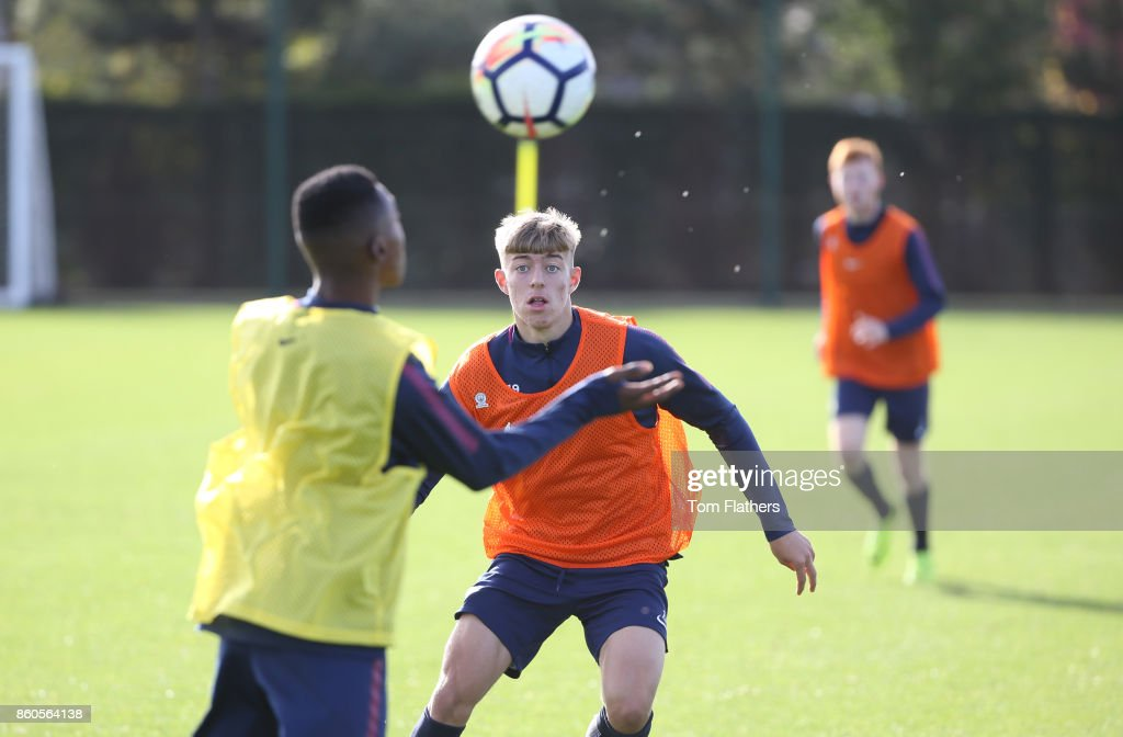 Manchester City's Reece Devine during training at Manchester City Football Academy on October 12, 2017 in Manchester, England.