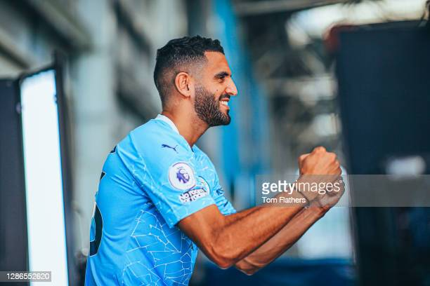 Manchester City's Riyad Mahrez during media day at Manchester City Football Academy on September 15, 2020 in Manchester, England.