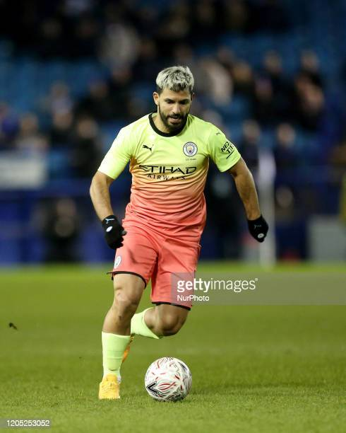 Manchester City's Sergio Aguero in action during the FA Cup Fifth Road match between Sheffield Wednesday and Manchester City at Hillsborough...