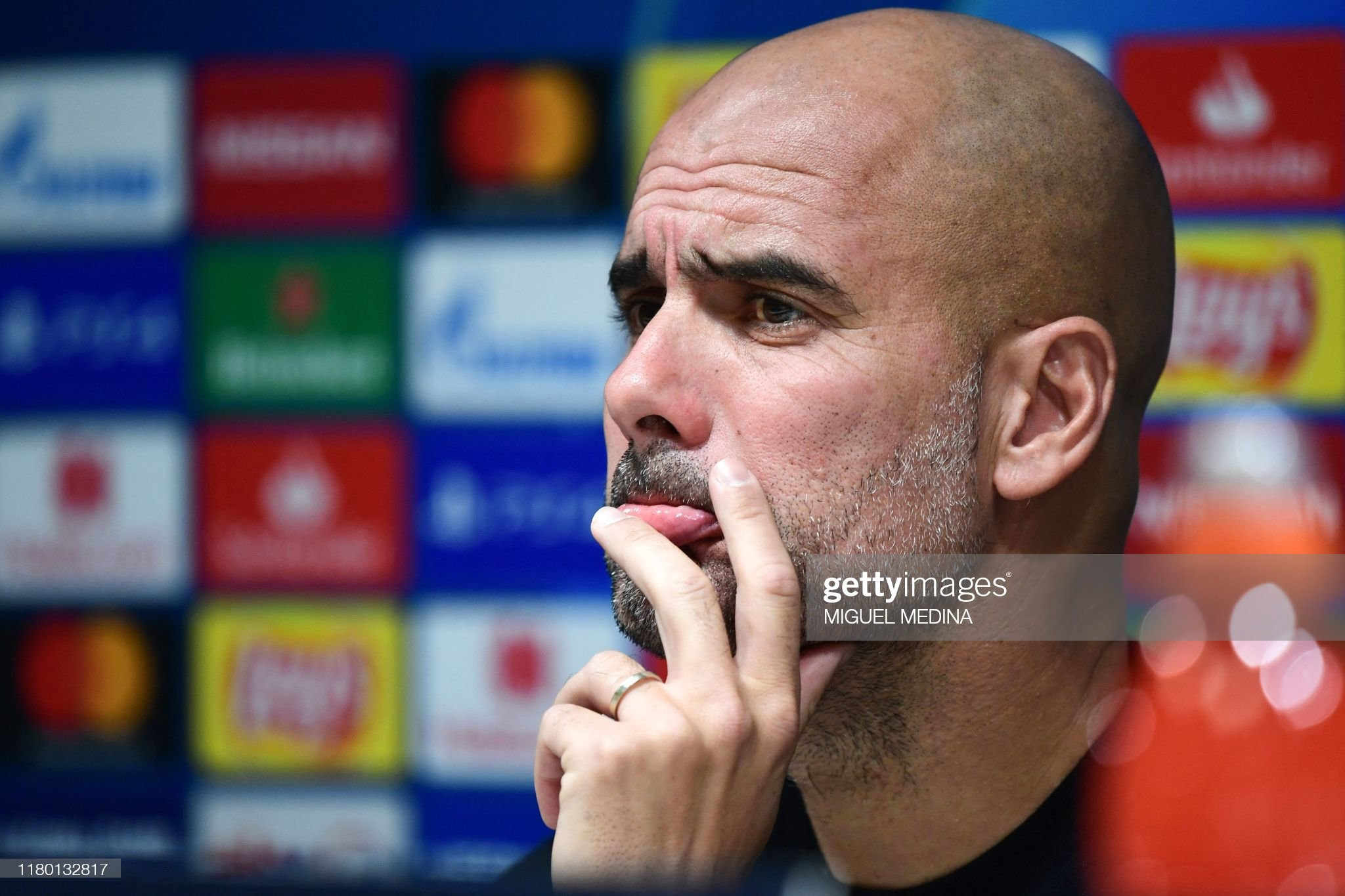FBL-EUR-C1-MAN CITY-PRESSER : News Photo