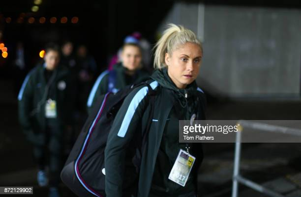 Manchester City's Steph Houghton arrives at Arasen Stadion ahead of the the UEFA Women's Champions League match between LSK Kvinner and Manchester...