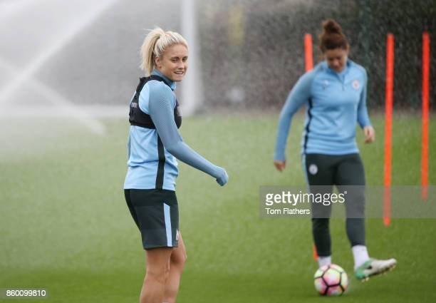 Manchester City's Steph Houghton during the training at Manchester City Football Academy on October 11 2017 in Manchester England