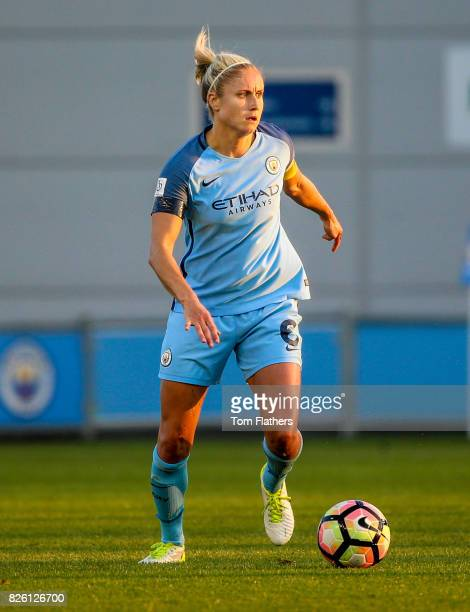 Manchester City's Steph Houghton in action against Chelsea