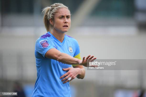 Manchester City's Steph Houghton in action during the Barclays FA Women's Super League match between Manchester City and Arsenal at The Academy...