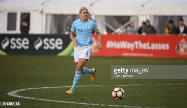 Manchester City's Steph Houghton in action during the WSL match between Sunderland AFC Ladies and Manchester City Women on January 28 2018 in...