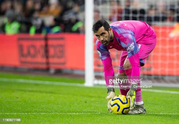 Manchester City's substitute goalkeeper Claudio Bravo during the Premier League match between Wolverhampton Wanderers and Manchester City at Molineux...