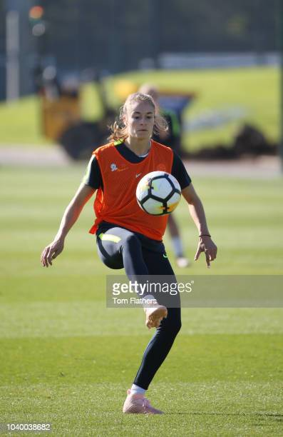 Manchester City's Tessa Wullaert during training at Manchester City Football Academy on September 25 2018 in Manchester England
