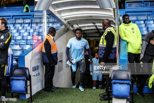 Manchester City's Tom DeleBashiru ahead of the FA Youth Cup Final
