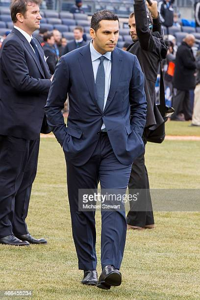 Manchester City's United Arab Emirates owner Khaldoon Al Mubarak attends the New England Revolution Vs The New York City Football Club Match at...