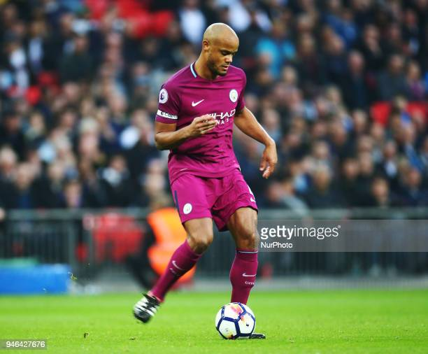 Manchester City's Vincent Kompany during the Premiership League match between Tottenham Hotspur and Manchester City at Wembley London England on 14...