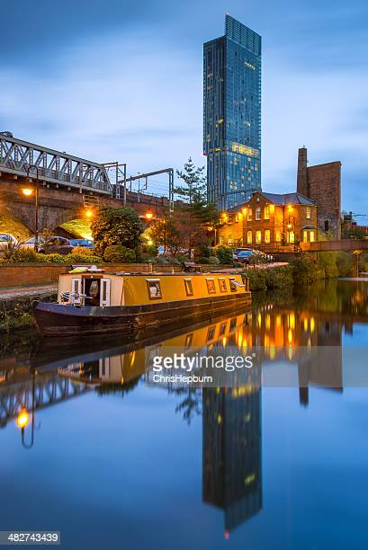manchester cityscape, england, uk - manchester uk stock photos and pictures