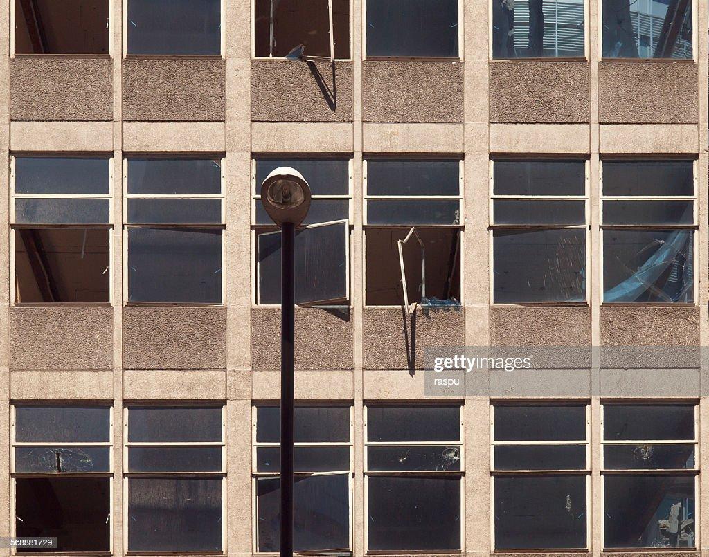 Manchester, demolition site : Stock Photo