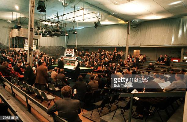 Manchester England April 1973 The World Professional Snooker Championships are pictured taking place in the Manchester City Hall
