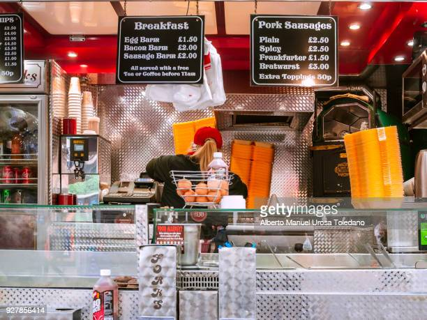 Manchester, Food stall, Breakfast, Fast Food
