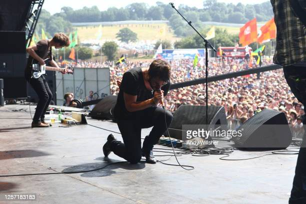 Manchester indie band The Courteeners performing at Glastonbury Festival in 2010
