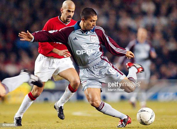 LEAGUE 01/02 Manchester MANCHESTER UNITED FC BAYERN MUENCHEN 00 Juan Sebastian VERON/MANU Giovane ELBER/BAYERN