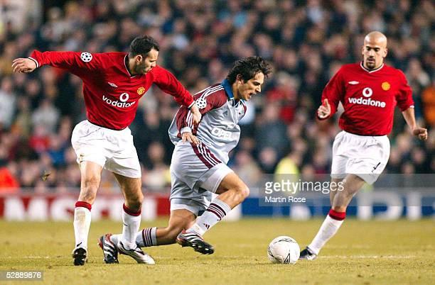 LEAGUE 01/02 Manchester MANCHESTER UNITED FC BAYERN MUENCHEN 00 Ryan GIGGS/MANU Roque SANTA CRUZ/BAYERN Juan Sebastian VERON/MANU