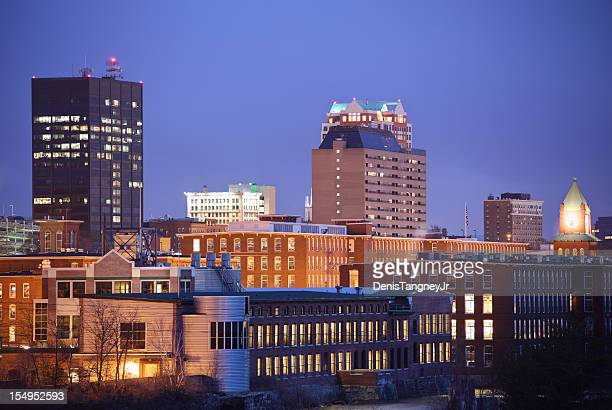 manchester, new hampshire cityscape - manchester new hampshire stock pictures, royalty-free photos & images