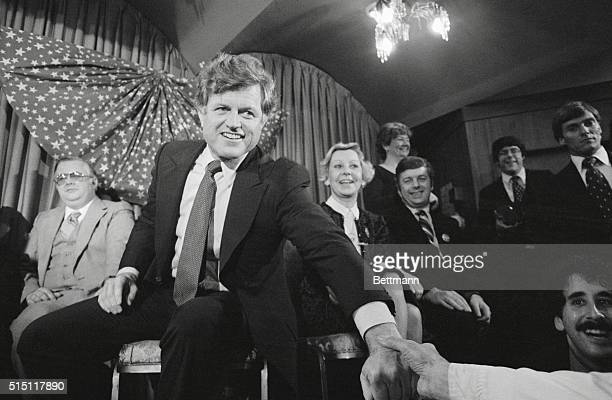 Manchester New Hampshire Sen Edward M Kennedy lost no time hitting the campaign trail and making his announcement at Boston's Faneuil Hall 1/7 that...