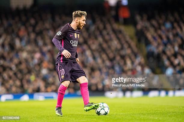 Manchester Pilka nozna Liga Mistrzow sezon 2016/2017 Manchester City FC Barcelona N/z Lionel Messi Foto Sebastian Frej / PressFocus Manchester...