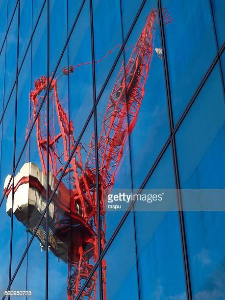 Manchester, red crane machine