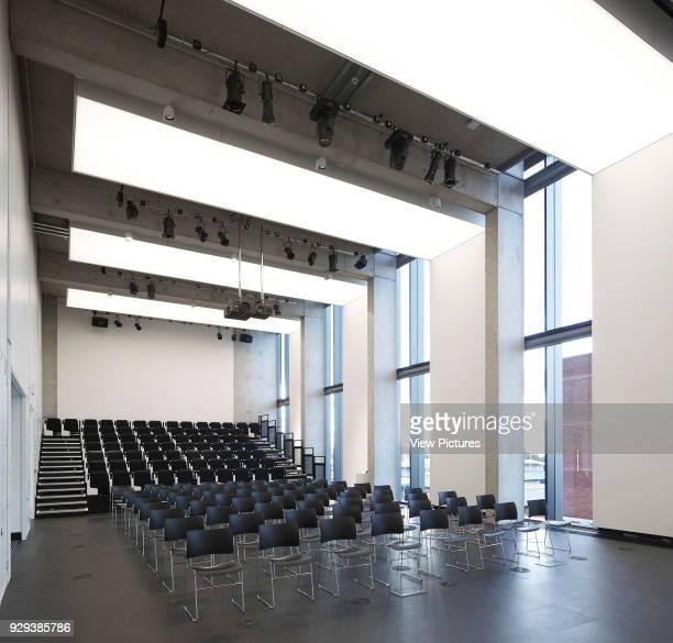 Manchester School of Art at MMU Manchester United Kingdom Architect Feilden Clegg Bradley Studios LLP 2014 View through empty lecture hall