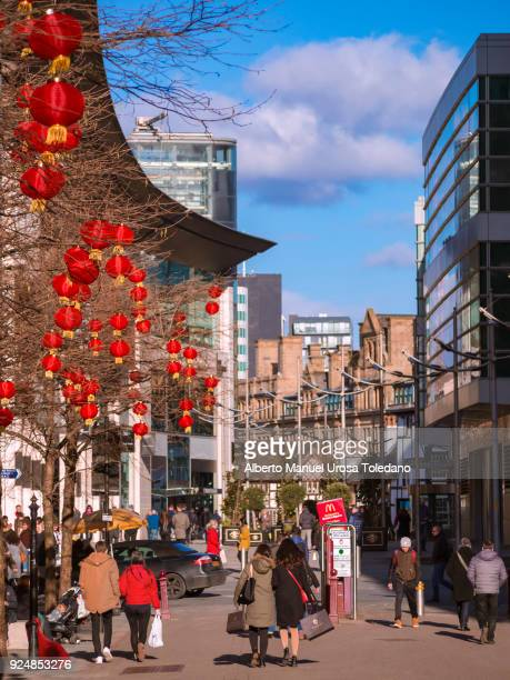 Manchester, St Anne square - Chinese New Year, People