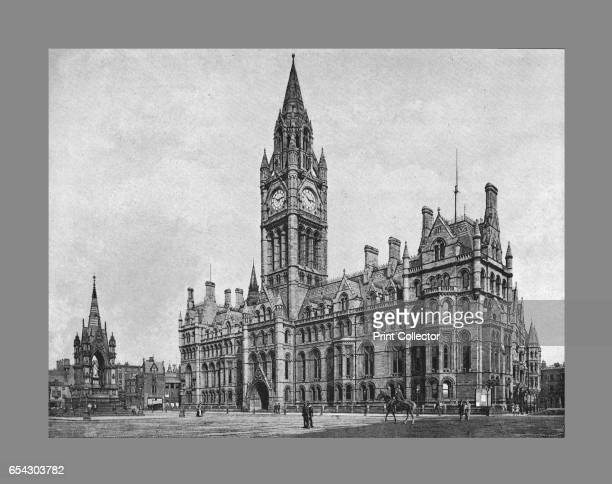 Manchester Town Hall c1900 Manchester Town Hall is a 19th century Victorian Neogothic municipal building in Manchester England From Sights and Scenes...