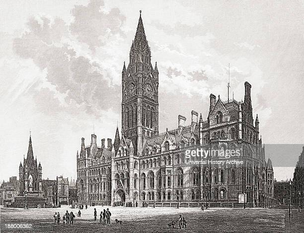 Manchester Town Hall Manchester England In The Late 19Th Nineteenth Century From Our Own Country Published 1898