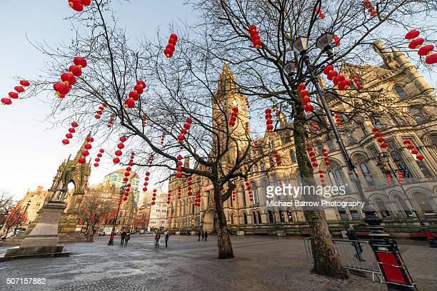 manchester town hall - manchester england stock pictures, royalty-free photos & images