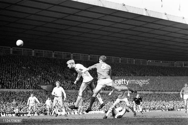 Manchester United 2-0 Burnley, Division One league match at Old Trafford, Saturday 19th April 1969. Our Picture Shows Burnley centre-half Colin...