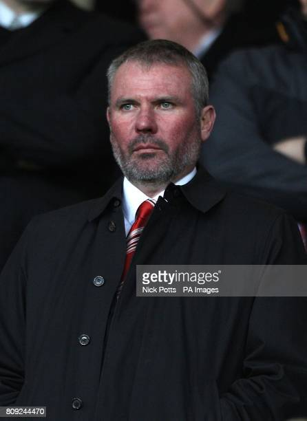 Manchester United Academy Director Brian McClair in the stands