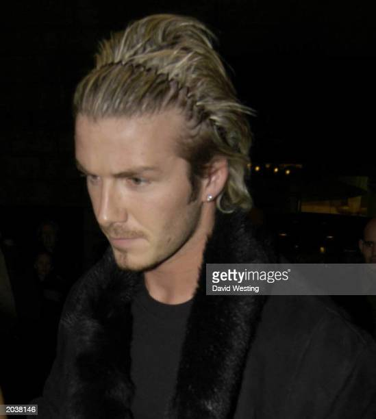 Manchester United and England soccer star David Beckham attending performance of Chitty Chitty Bang Bang on October 28 at The London Palladium London...