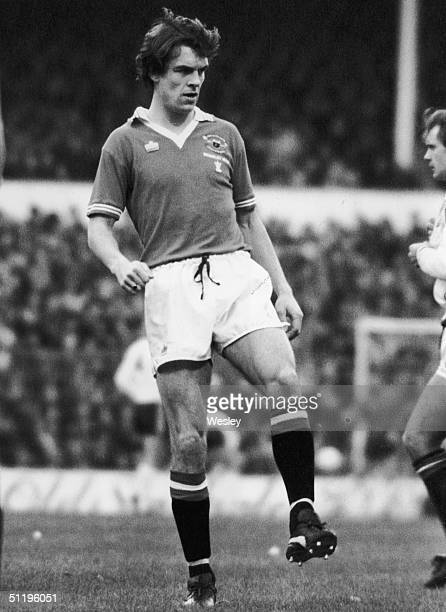 Manchester United and Scotland centre forward Joe Jordan playing in the third round of the F A Cup at Spurs' home ground White Hart Lane 5th January...