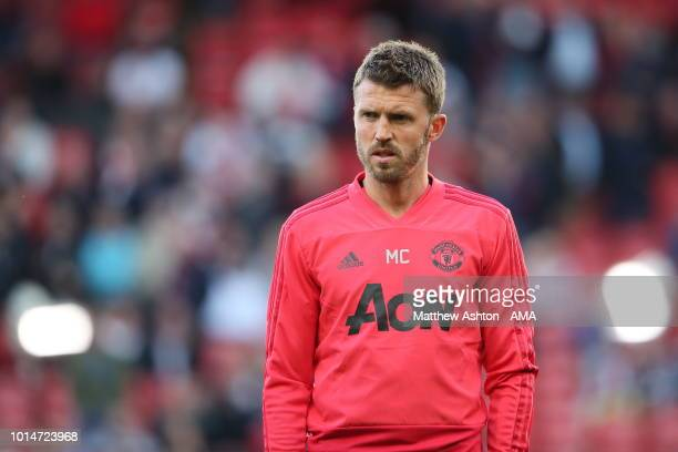 Manchester United Assistant coach Michael Carrick during the Premier League match between Manchester United and Leicester City at Old Trafford on...