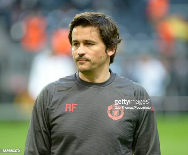 Manchester United assistant manager Rui Faria before the UEFA Europa League final between Ajax and Manchester United at the Friends Arena on May 24...