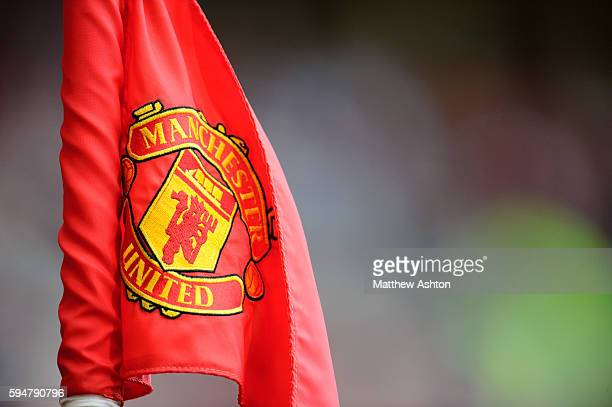Manchester United badge / logo on corner flag