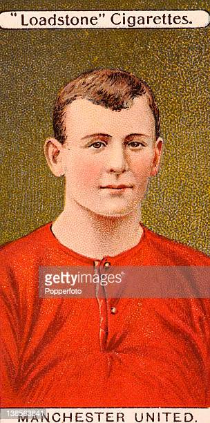 Manchester United captain Charlie Roberts featured on a vintage cigarette card circa 1908