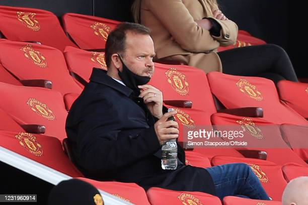 Manchester United Chief Executive Ed Woodward looks on during the Barclays FA Women's Super League match between Manchester United Women and West Ham...