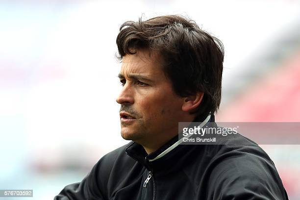 Manchester United coach Rui Faria looks on during the pre season friendly match between Wigan Athletic and Manchester United at the JJB Stadium on...