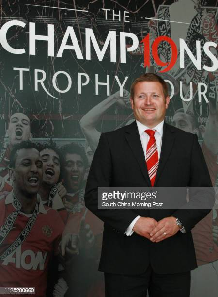 Manchester United Commercial Director Richard Arnold poses for photography during a press conference at Grand Hyatt Hotel in Wan Chai to promote...