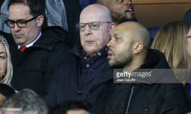 Manchester United Co-Owner Avram Glazer attends the UEFA Champions League Round of 16 Second Leg match between Paris Saint-Germain and Manchester...