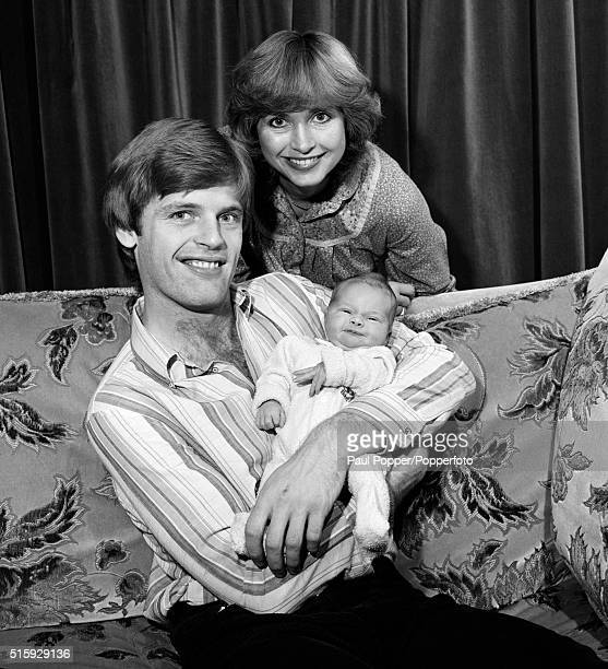 Manchester United defender Gordon McQueen with his wife Yvonne and their baby daughter Hayley circa January 1980