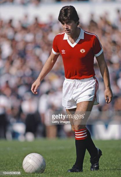 Manchester United defender Martin Buchan in action during a Division One match between Tottenham Hotspur and Manchester United at White Hart Lane on...